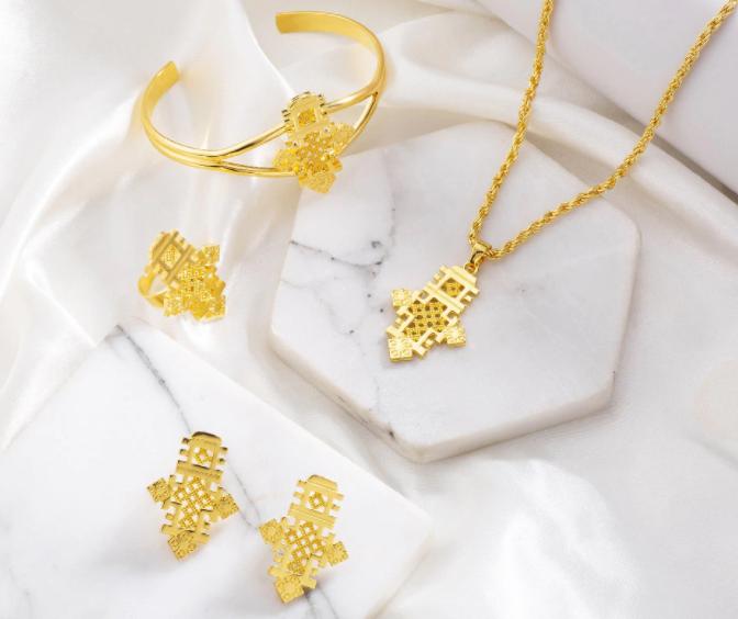 jewellery set cross axum